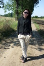 Black-blazer-black-retro-sunglasses-black-top-cream-pants