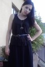 Black-h-m-skirt-black-sandals-black-secondhand-top-black-secondhand-belt