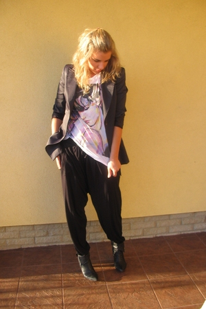 MORGAN blazer - Zara t-shirt - asos pants - Bata shoes