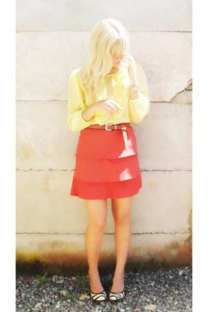 Territrio Nacional shoes - vintage belt - Laysa Rosa skirt - Laysa Rosa blouse