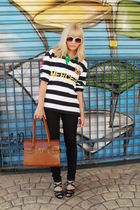 white Ralph Lauren blouse - black C e A pants - black Coberluxe shoes - brown vi