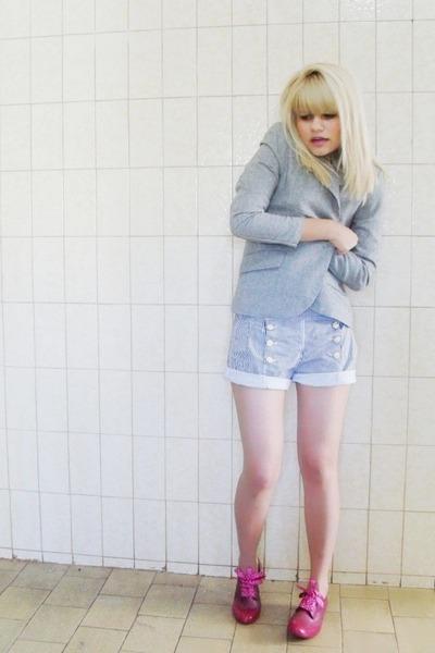 silver Renner blazer - Melissa Alexandre Herchcovitch shoes - blue Laysa Rosa sh