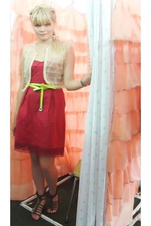 Laysa Rosa dress - C e A shoes