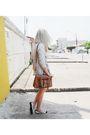 Silver-zara-cardigan-white-vintage-dress-white-riachuelo-shoes