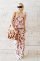 white Siberian shoes - black C e A sunglasses - pink Jumpsuit Laysa Rosa