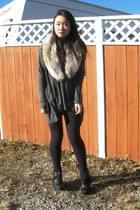 H&M scarf - Vero Moda sweater - sam edelman boots