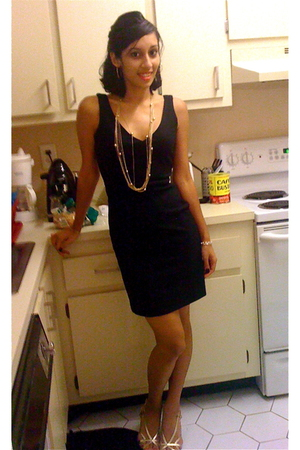 banana republic dress - Mandee necklace - payless shoes