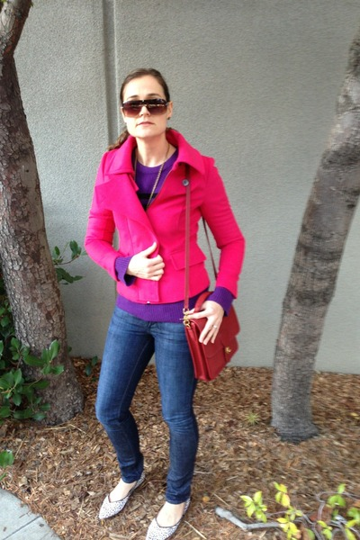 hot pink calvin klein blazer - blue William Rast jeans