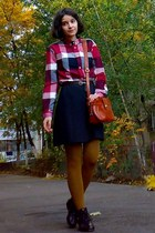 Ruby Red Plaid Shirt