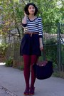 Black-longchamp-bag-dark-brown-h-m-sweater-maroon-tights