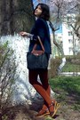 Black-longchamp-bag-navy-mbg-blazer-brick-red-tights