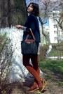 Black-longchamp-bag-navy-mbg-blazer-brick-red-tights