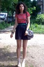Black-two-tones-thrifted-purse-black-polka-dots-thrifted-shorts-beige-socks