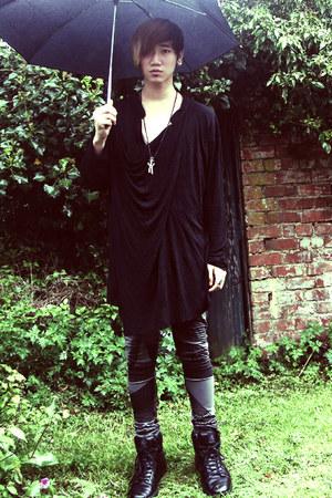 dark gray draped horace shirt - heather gray mens asos leggings