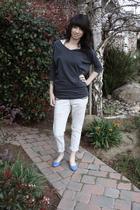 gray Forever 21 shirt - white Forever 21 shirt - blue Forever 21 jeans - blue sh