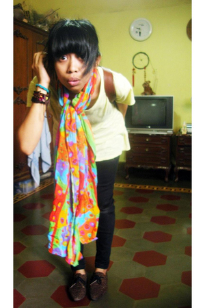my sister t-shirt - tailor made pants - from Bali scarf - from Jakarta shoes