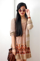 brown crochet Ann Loft cardigan