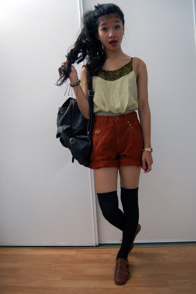 dark brown backpack bag - dark brown flats