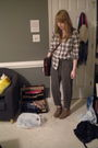 Forever-21-shirt-gray-h-m-pants-brown-asos-boots-brown-bag-silver-michae