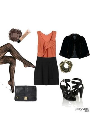 Chloe top - Urban Outfitters tights - forever 21 shoes - Marc Jacobs purse - bra