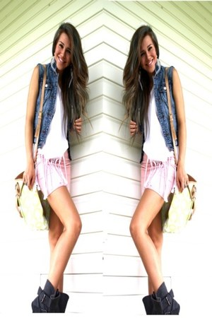 coach bag - Forever 21 skirt - DIY vest