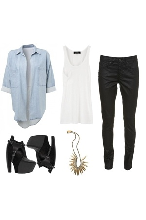 Topshop shirt - Kain shirt - Topshop pants - balenciaga shoes - Elizabeth & Jame