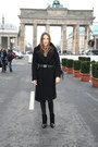 Black-leather-alexander-wang-boots-black-wool-vintage-coat