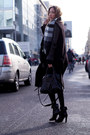 Black-leather-vintage-jacket-black-knit-zara-sweater