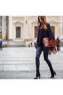 Black-hugo-boss-boots-burnt-orange-chloe-bag-navy-helmut-lang-pants