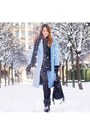 Black-leather-minelli-boots-sky-blue-wool-maje-coat-black-knit-zara-sweater