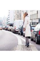 gray suede Pour La Victoire heels - heather gray silk cotton Massimo Dutti scarf