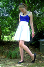 Blue-cotton-on-shirt-white-thrifted-skirt-black-big-w-shoes-black-hippy-sh