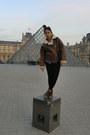 Brown-vintage-from-ebay-jacket-black-petite-topshop-leggings-blue-denim-gap-