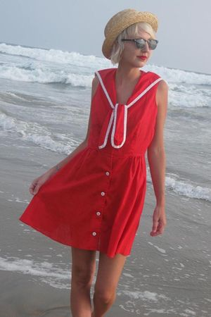 red vintage dress