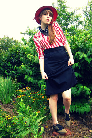 black Shabby Apple dress - brown Urban Outfitters shoes - gold thrifted necklace