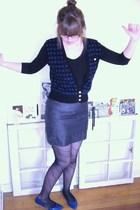 H&M shirt - vintage vest - Forever 21 skirt - American Apparel tights - Target s