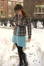 Blue-vintage-and-vintage-skirt-gray-bensimon-shirt-white-vintage-shirt-blu