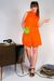 orange vintage dress