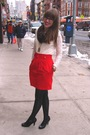 Red-vintage-thrifted-skirt-black-target-tights-black-steve-madden-shoes-wh