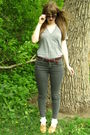 Beige-thrifted-shoes-white-target-socks-brown-thrifted-belt-gray-american-