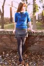 Blue-target-stockings-brown-urban-outfitters-shoes-gray-forever-21-skirt-w