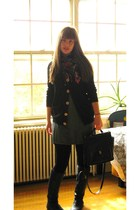 black American Apparel sweater - black Steve Madden boots - gray Topin dress