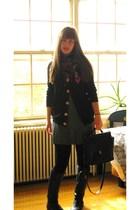 black American Apparel sweater - black Steve Madden boots - gray Topin dress