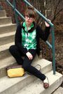 Green-thrifted-blouse-brown-urban-outfitters-shoes-brown-thrifted-purse-bl