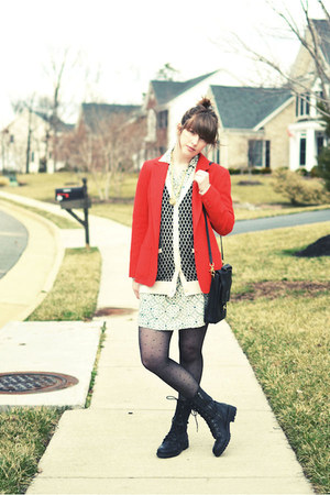ruby red thrifted Pendleton blazer