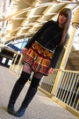 Black-steve-madden-boots-brown-modcloth-dress-black-forever-21-jacket-blac