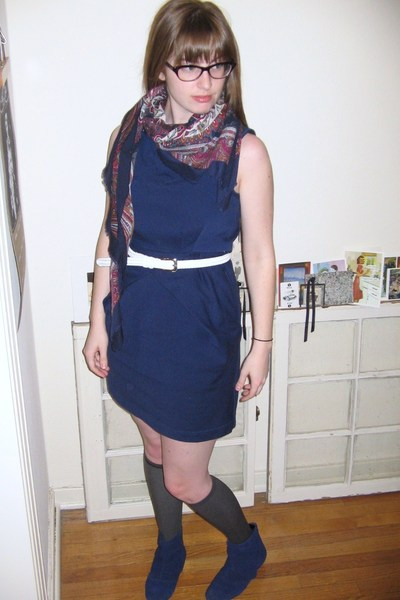 Tulle dress - dita glasses - thrifted scarf - thrifted belt - Urban Outfitters b
