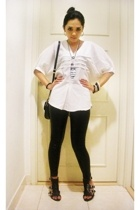 aDDorable top - leggings - nine west suliban look a like shoes - diva necklace