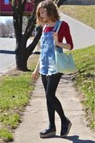 modcloth bag - sky blue asos shorts