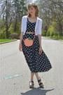 Black-asos-dress-light-orange-peach-crossbody-asos-bag